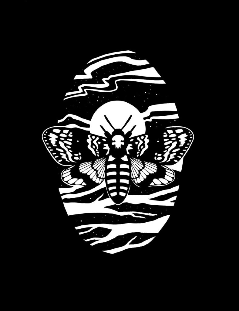 """Death's Head Hawkmoth,"" digital illustration"
