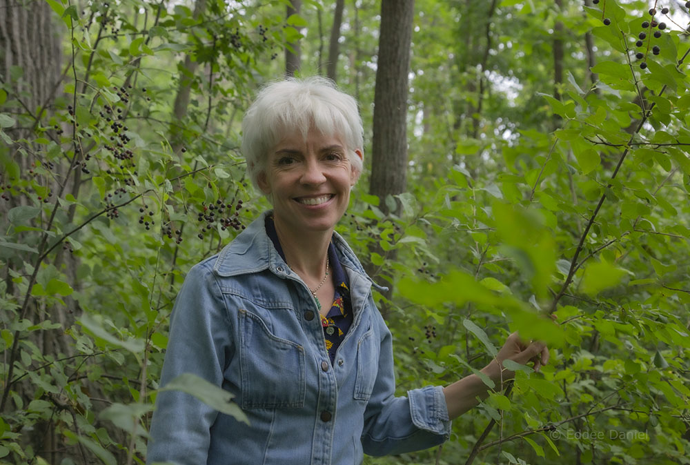 Krista Allenstein in Sidney Woodland Preserve.