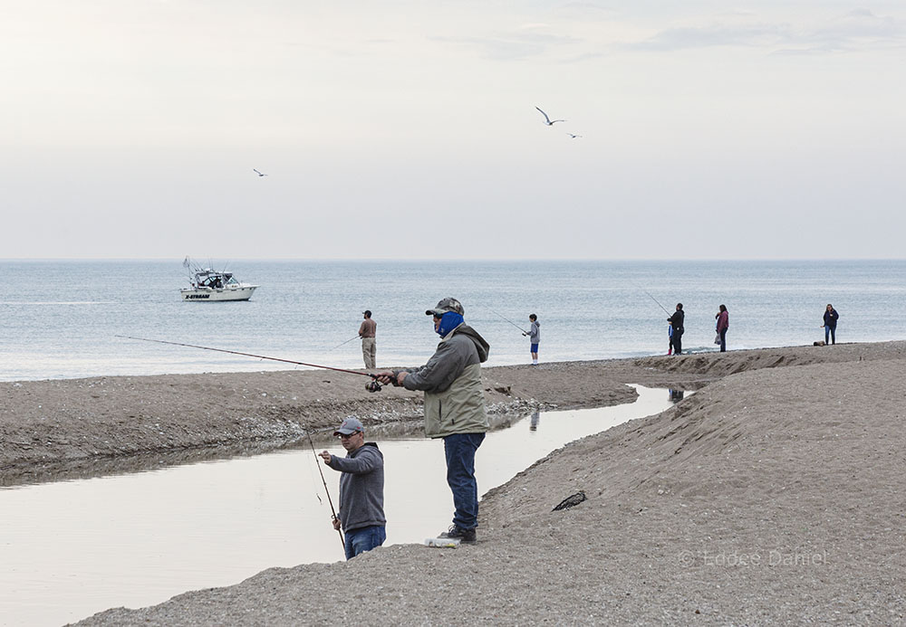 Autumn is also fishing season, which is clearly popular where the Pike River meets Lake Michigan at Pennoyer Park in Kenosha.