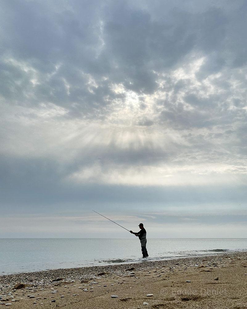 Fishing Pennoyer Park beach