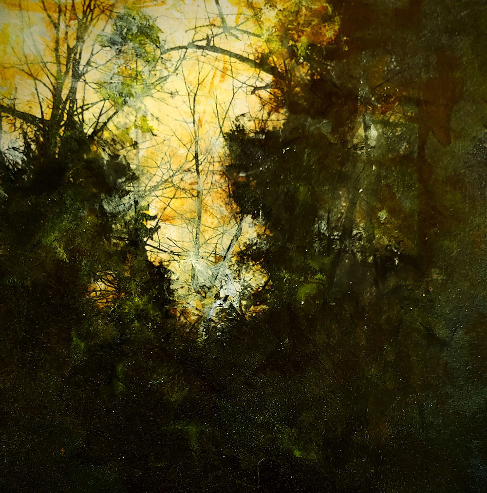 Silhouette, a digitally manipulated and painted photo by Mary Mendla