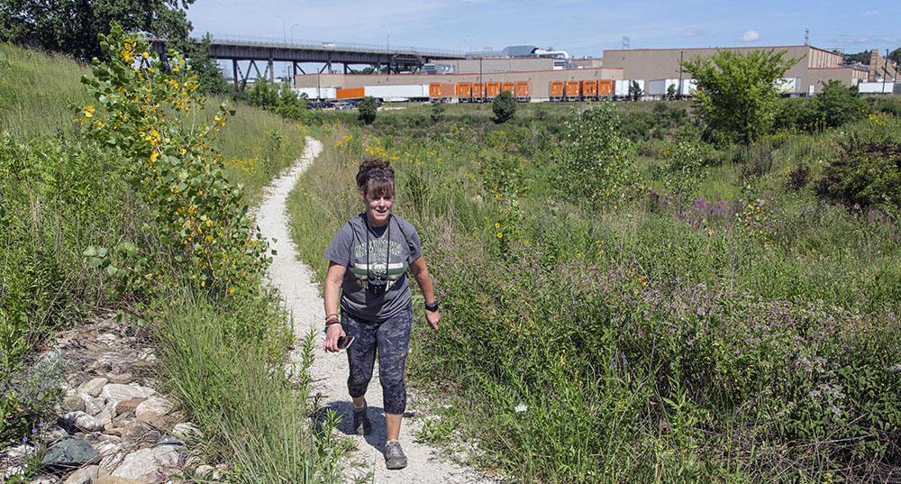 Hiking trail in Three Bridges Park