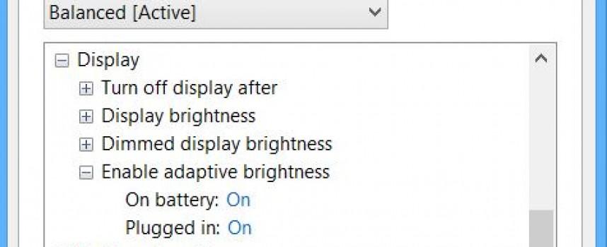 Turn on Adaptive Brightness on Your Laptop!