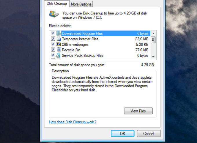 Eliminate Unnecessary files – Use Disk Cleanup