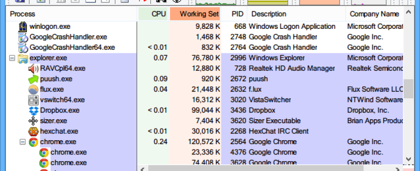 Power User: Use Process Explorer