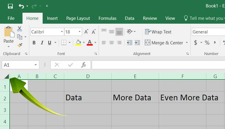 Hot PC Tips - Select All Excel