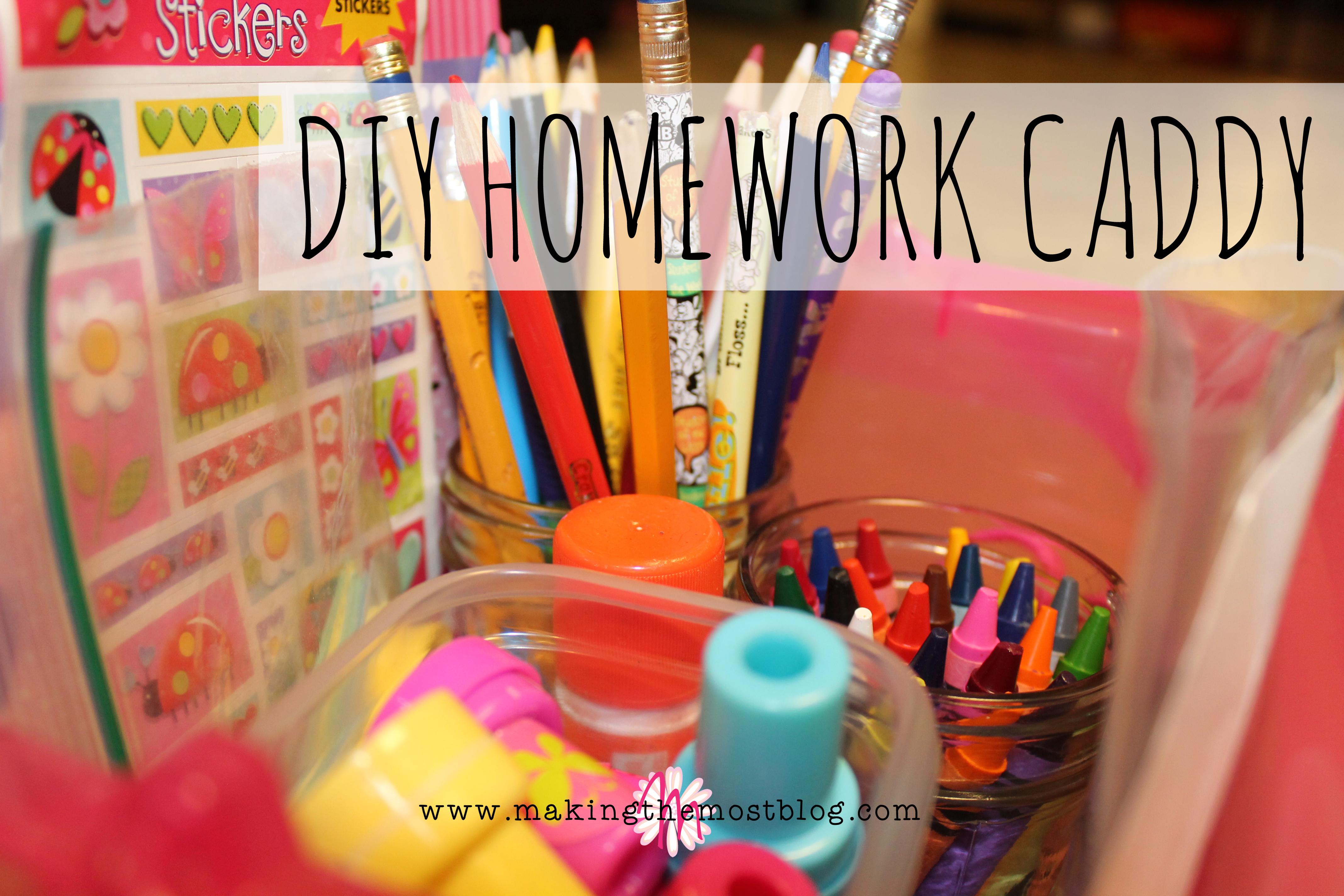 DIY Homework Caddy | Making the Most Blog