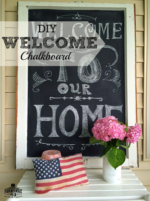 Chalkboard Welcome Sign | Making the Most Blog