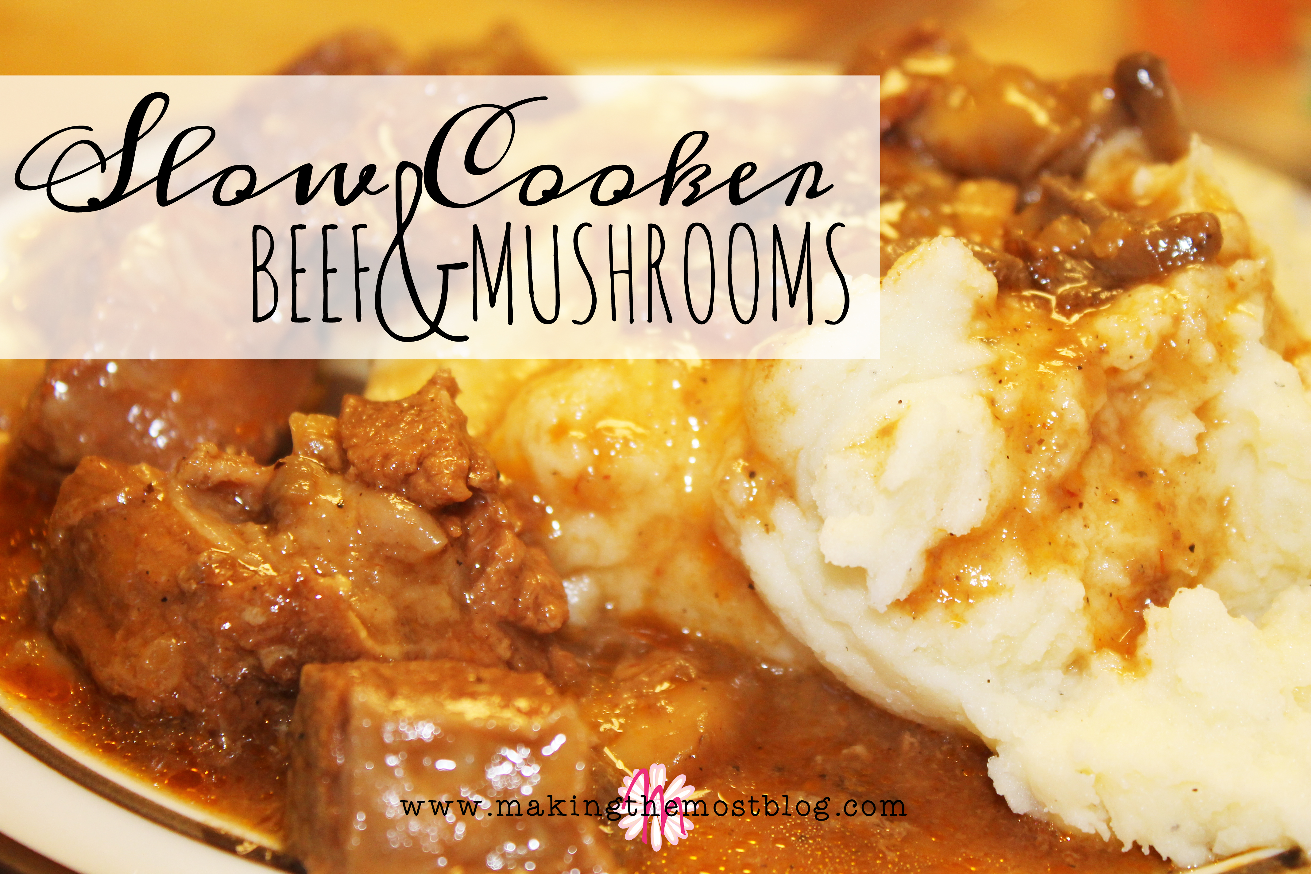 Slow Cooker Beef & Mushroom Recipe | Making the Most Blog