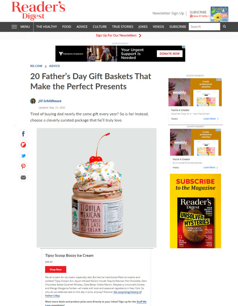 Readers Digest Top 20 Father's Day Gift Ideas