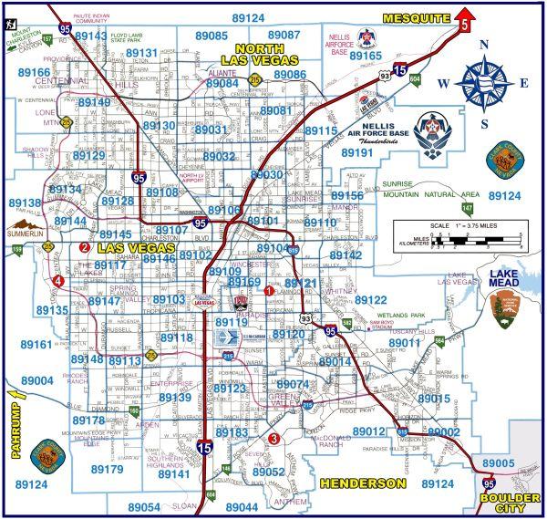 Henderson zip code map