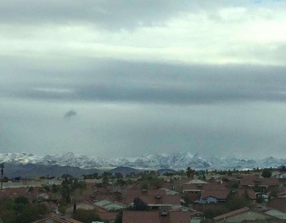 Snow on the Henderson Nevada Mountains