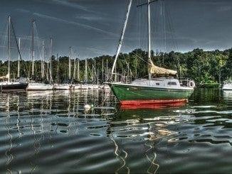 Sailboat at Yacht Club