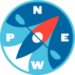 NEWP logo - color compass
