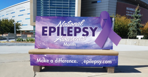 Epilepsy Awareness Bench
