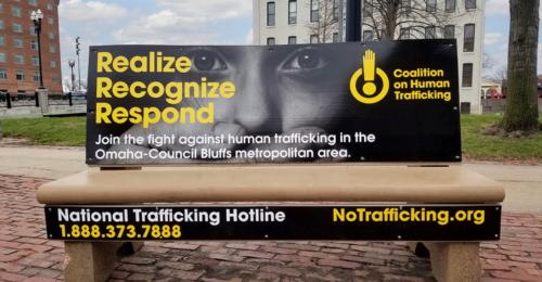 Human Trafficking Month Bench