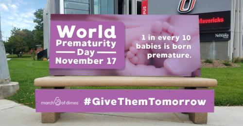 World Prematurity Day Bench
