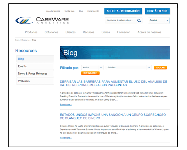 Blog CaseWare
