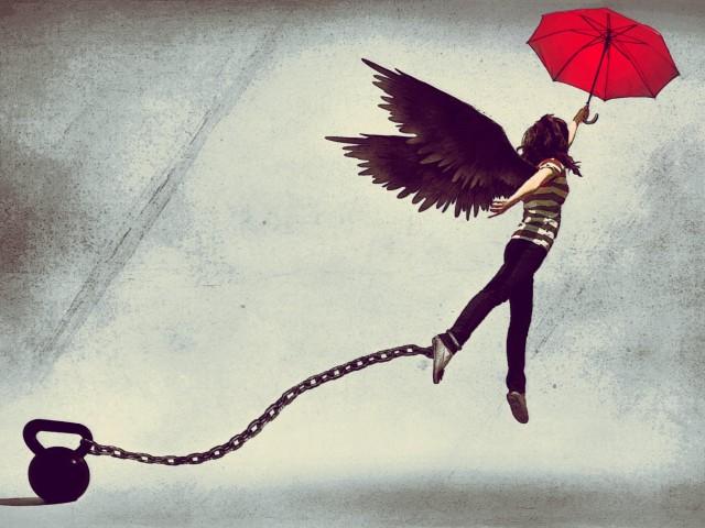 artwork-drawing-girl-red-umbrella-locked-freedom-wings-angel-1280x960