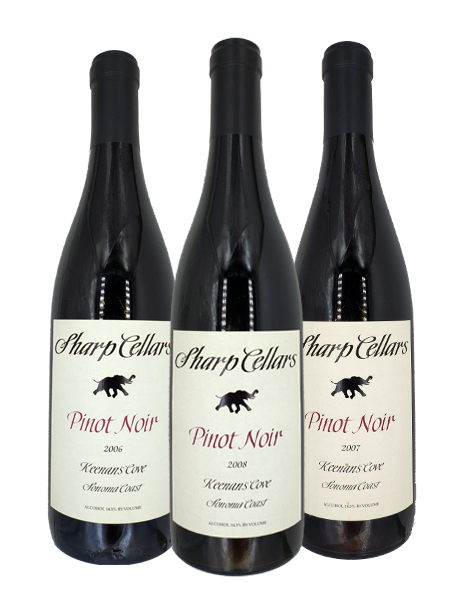 Sharp Cellar Pinot Noir 3 bottles