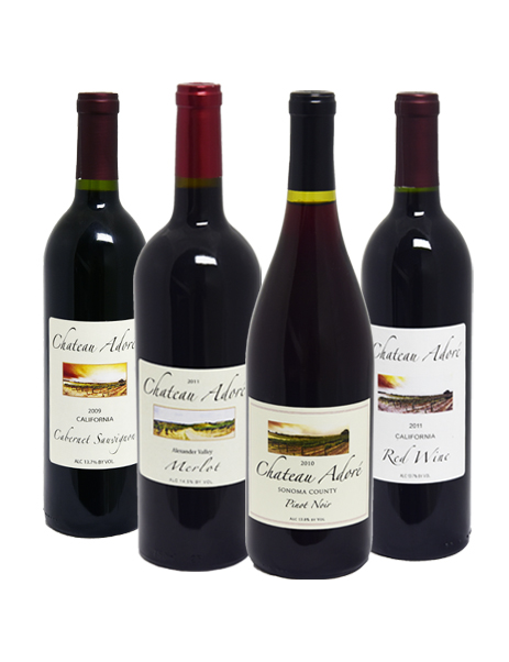 Chateau Adore Special : Cabernet Sauvignon, Merlot, Pinot Noir, California Red Wine
