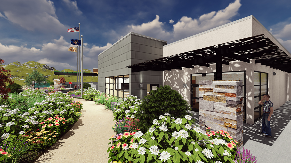 Blanding Health Center Conference Room Patio