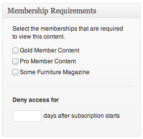 Sell with WordPress   Cart66 Membership Editor on Product Page