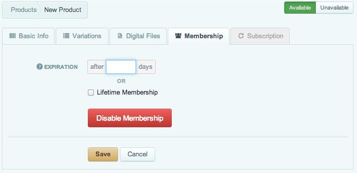 Sell with WordPress   Cart66 Creating Memberships