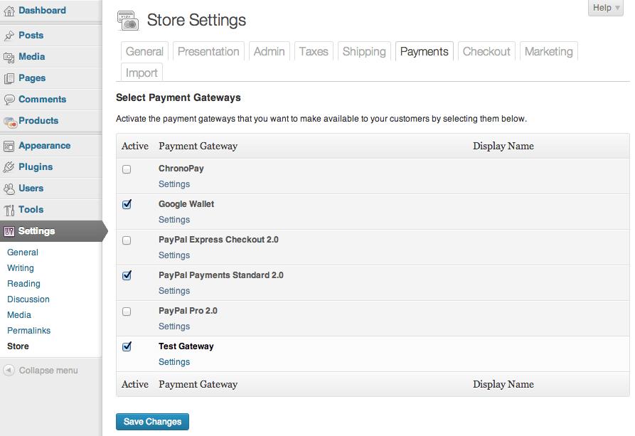 Sell with WordPress   WordPress eCommerce Plugin Payment Options