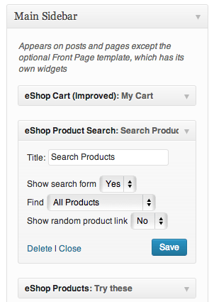 Sell with WordPress   eShop Widgets