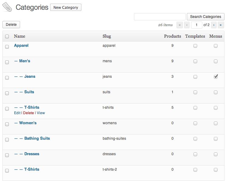 Sell with WordPress | Shopp Catalog Setup