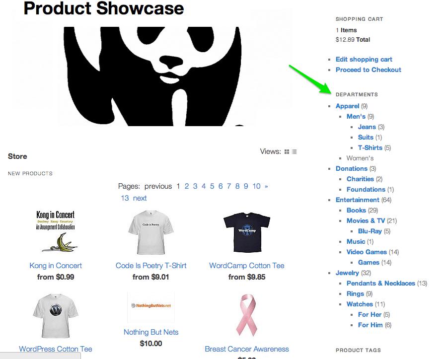 Sell with WordPress | Shopp Catalog Widget