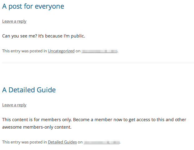 Sell with WordPress   Exchange Membership Restricted Content
