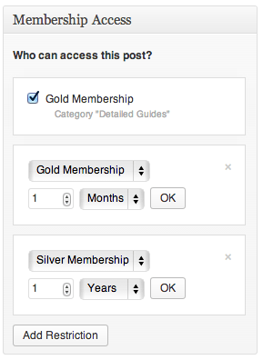 Sell with WordPress   Exchange Membership Restricting Posts/Pages