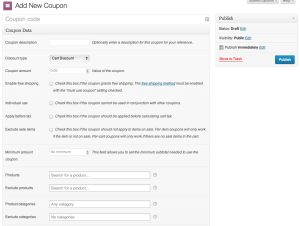 Add Coupon in WooCommerce 2.0