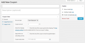 Add Coupon in WooCommerce 2.1