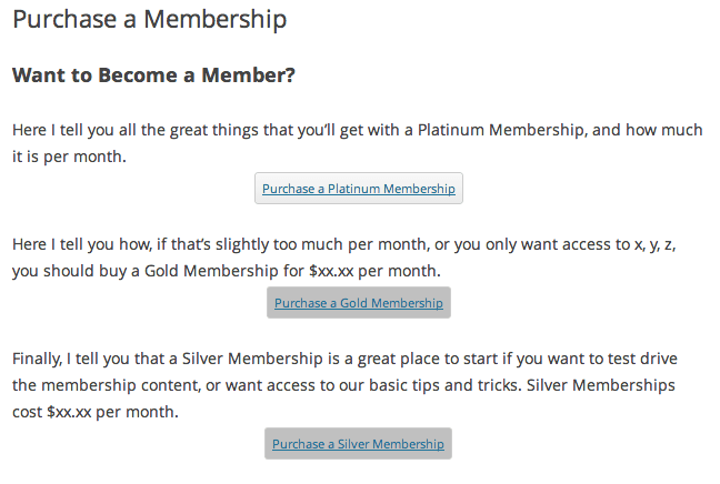 Sell with WP MemberMouse Review | Product Page: Frontend