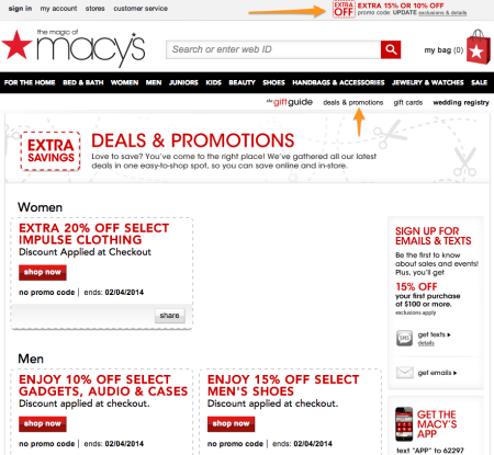 Sell with WP Effective Shipping Rates   Macy's Discount Page