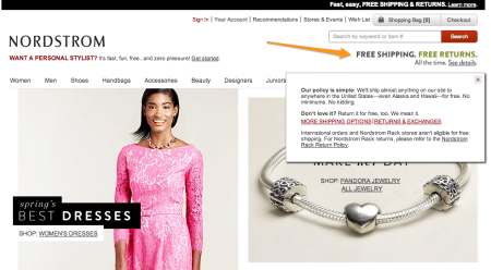 Sell with WP Effective Shipping Rates   Nordstrom Shipping Offer