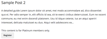 Paid Memberships Pro Review | Post excerpts