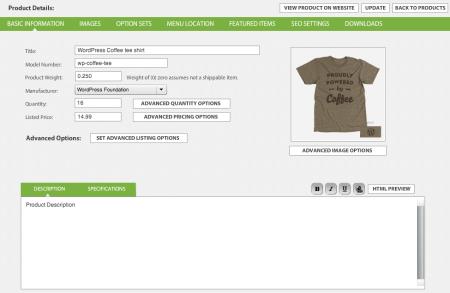 WP EasyCart Product Creation