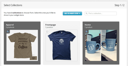 Integrating Shopify and WordPress   Choosing Collections