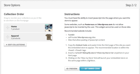Integrating Shopify and WordPress   Getting Embed Code