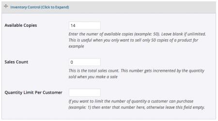 WP eStore Review | Inventory management