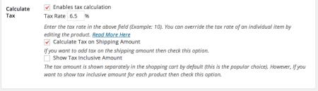 WP eStore Review | Tax Settings