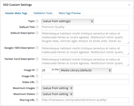 WPSSO Review | WooCommerce Product Settings