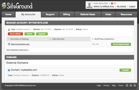 SiteGround Review   My Accounts