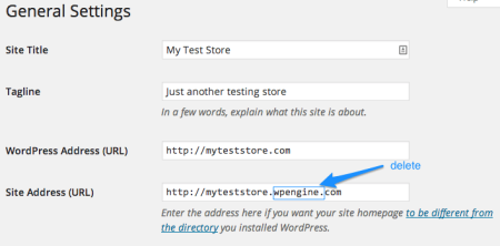 WP Engine Review | Change Site URLs
