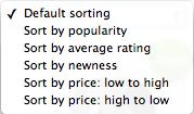 Default WooCommerce Product Sorting