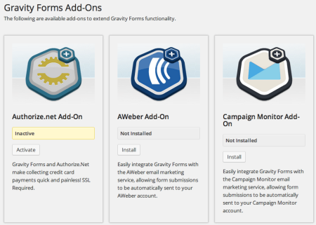 Gravity Forms for eCommerce   Addons